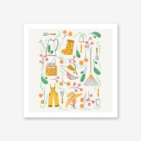 Gardening Fun Art Print
