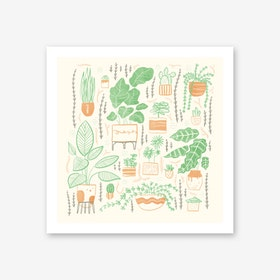 We Love Plants Art Print