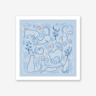 Cats and Candles Art Print