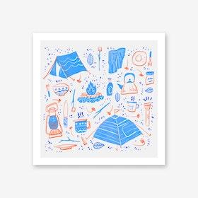 Camping Daylight Art Print