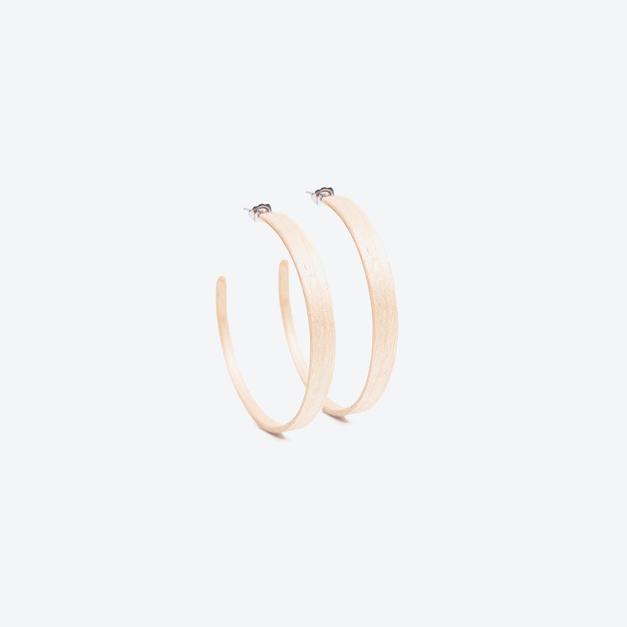 Ring Earrings in Birch