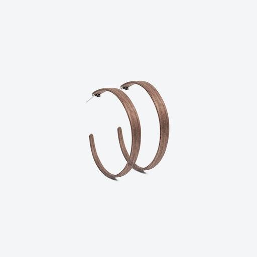 Ring Earrings in Walnut