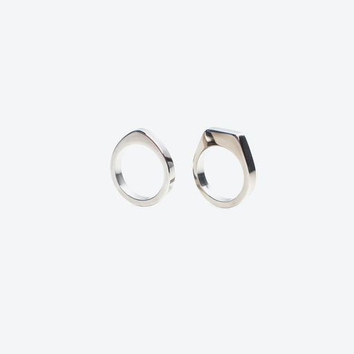 Twin Rings in Stainless Steel