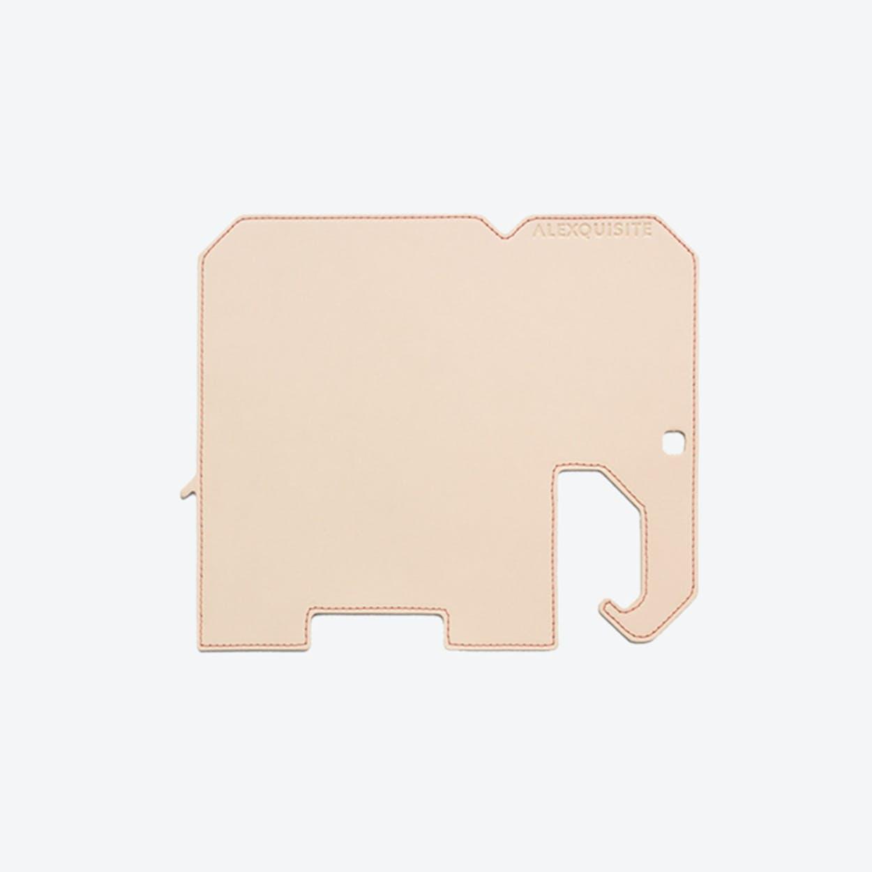 Elephant PET Mousepad in Beige