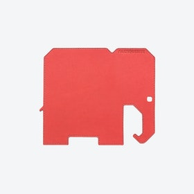 Elephant PET Mousepad in Coral