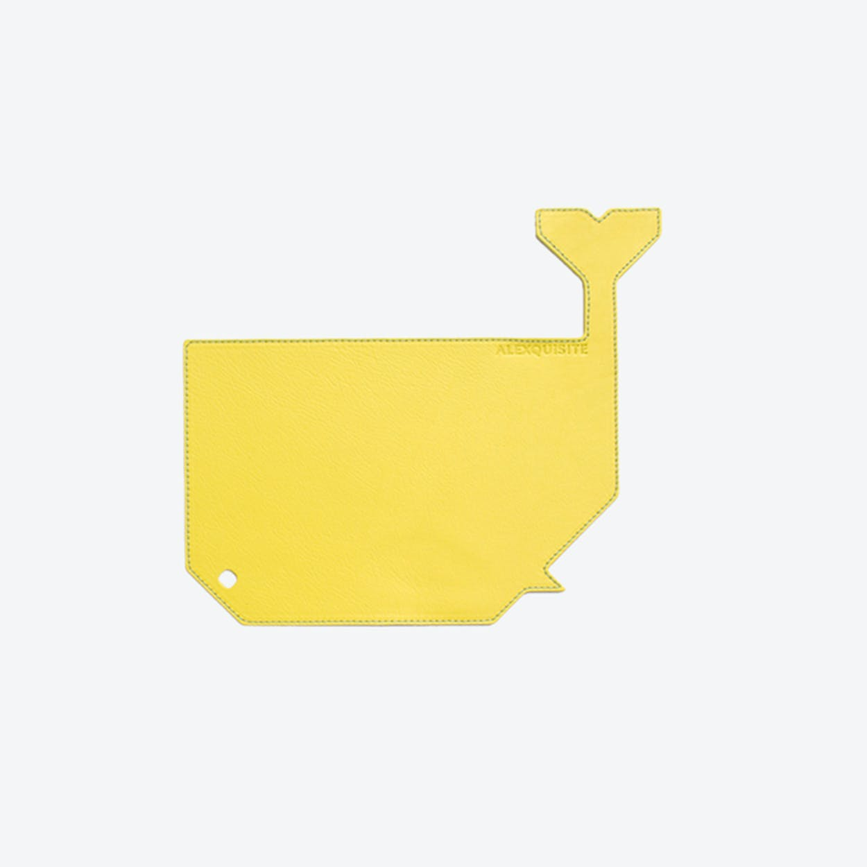 Whale PET Mousepad in Yellow