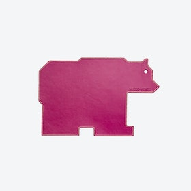 Bear PET Mousepad in Magenta