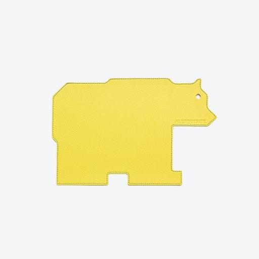 Bear PET Mousepad in Yellow