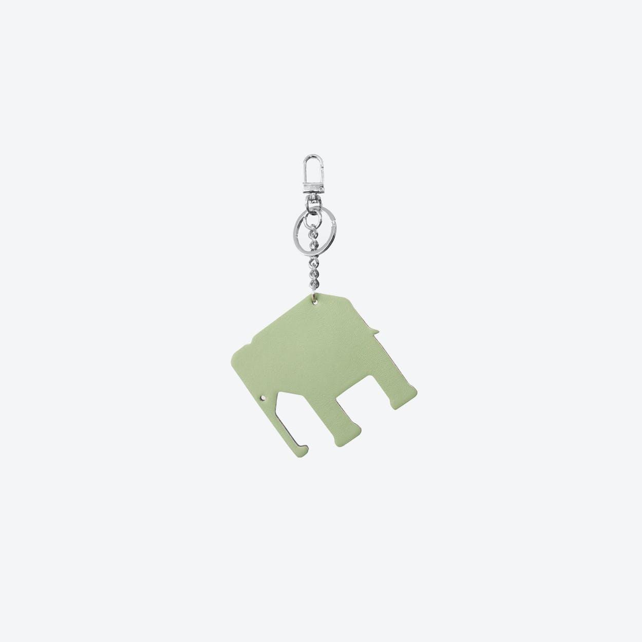 Elephant PET Bag Charm in Pistache