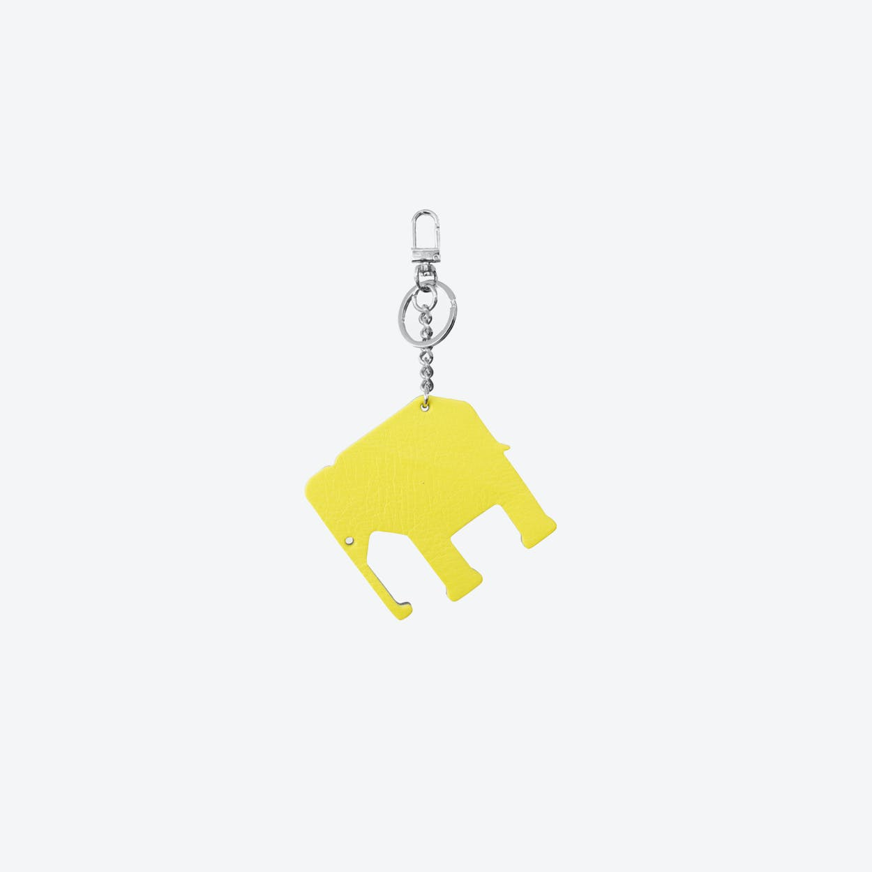 Elephant PET Bag Charm in Yellow