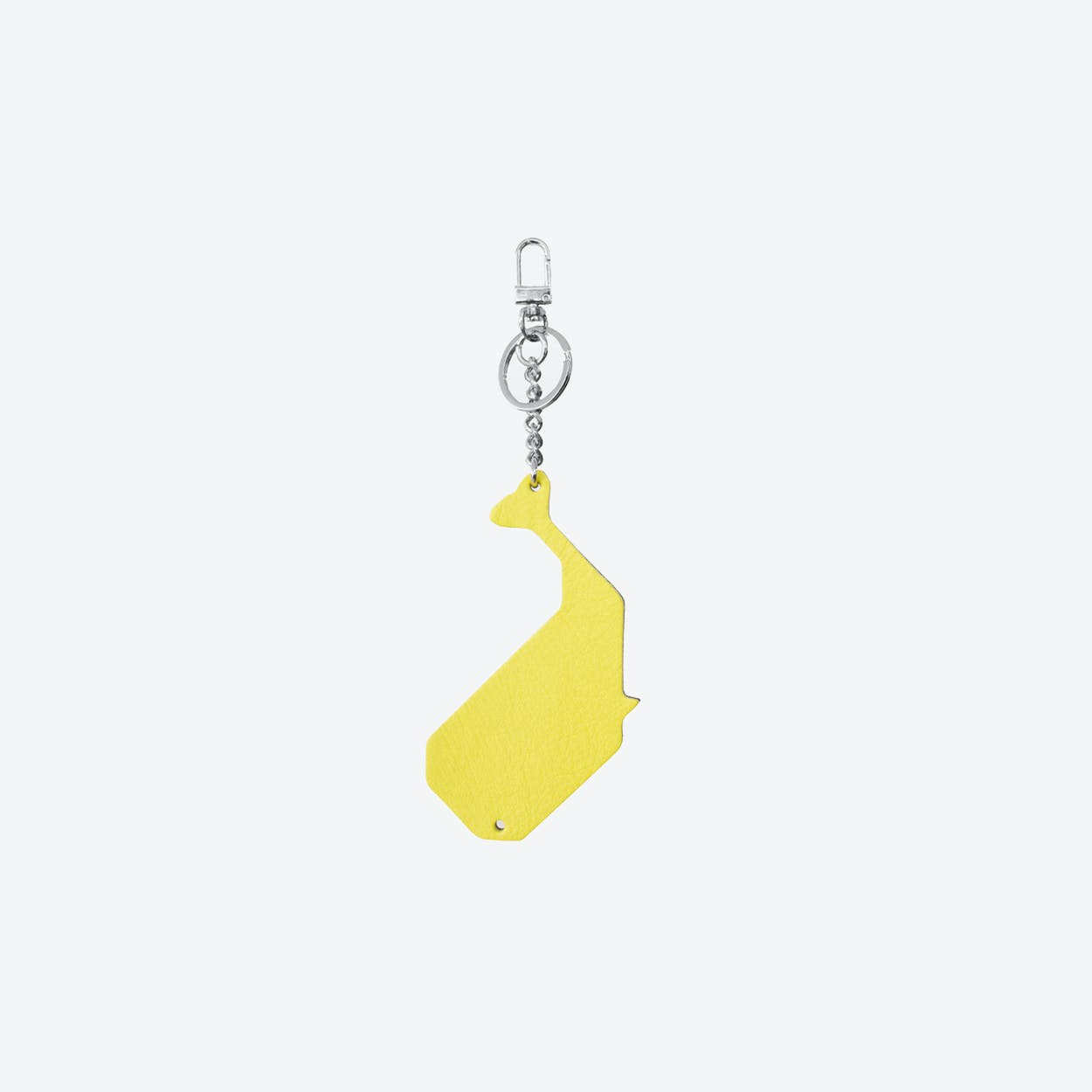 Whale PET Bag Charm in Yellow