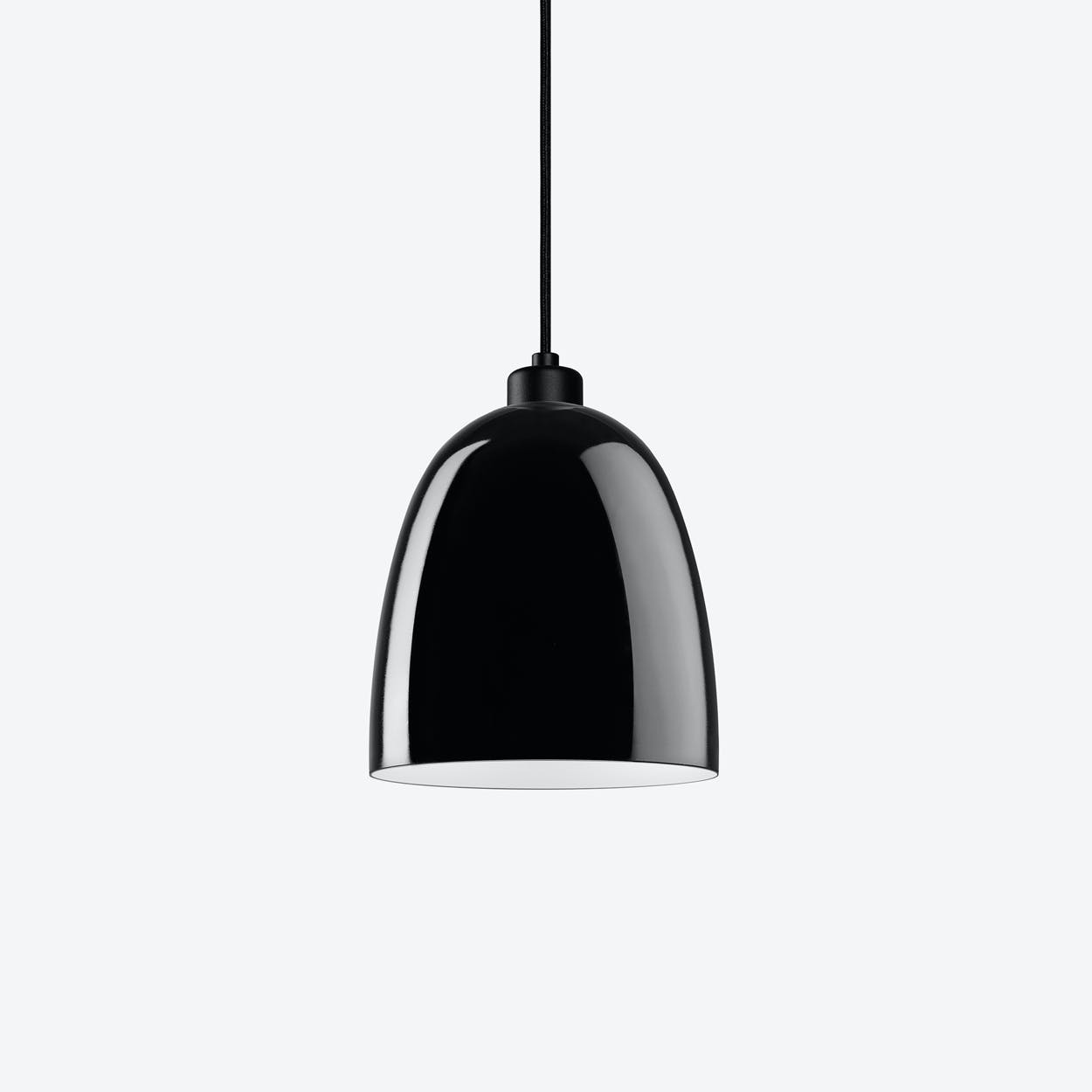 AWA Single Pendant Light in Glossy Black