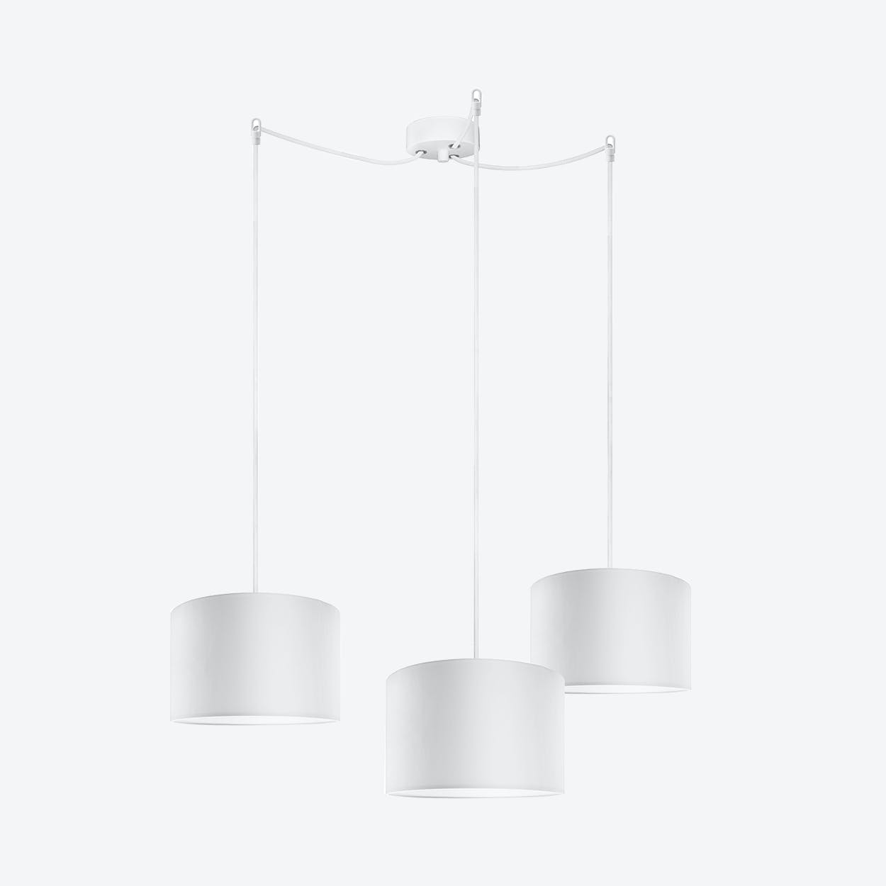 MIKA Small Triple Pendant Light in White