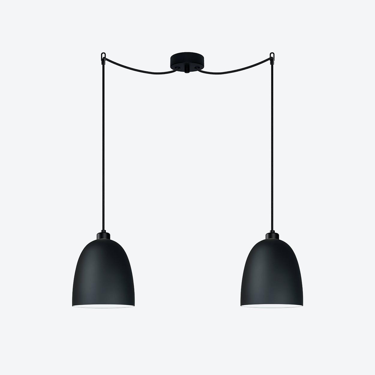 AWA Double Pendant Light in Matte Black
