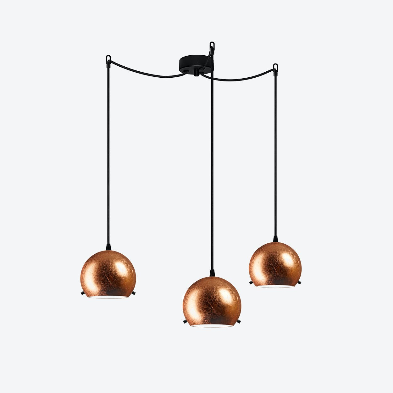 MYOO Triple Pendant Light in Copper Leaf