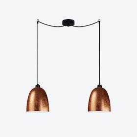 AWA Double Pendant Light in Copper Leaf