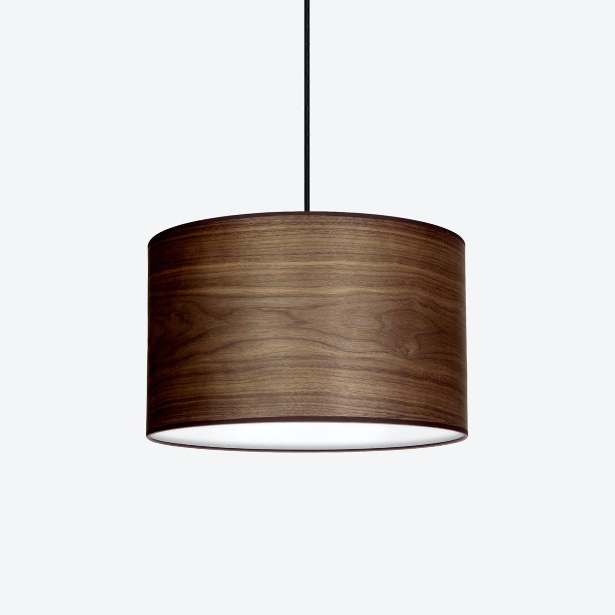 TSURI Large Single Pendant Light in Walnut