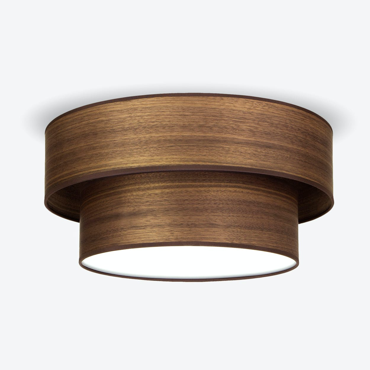 TSURI Large Double Ceiling Lamp in Walnut