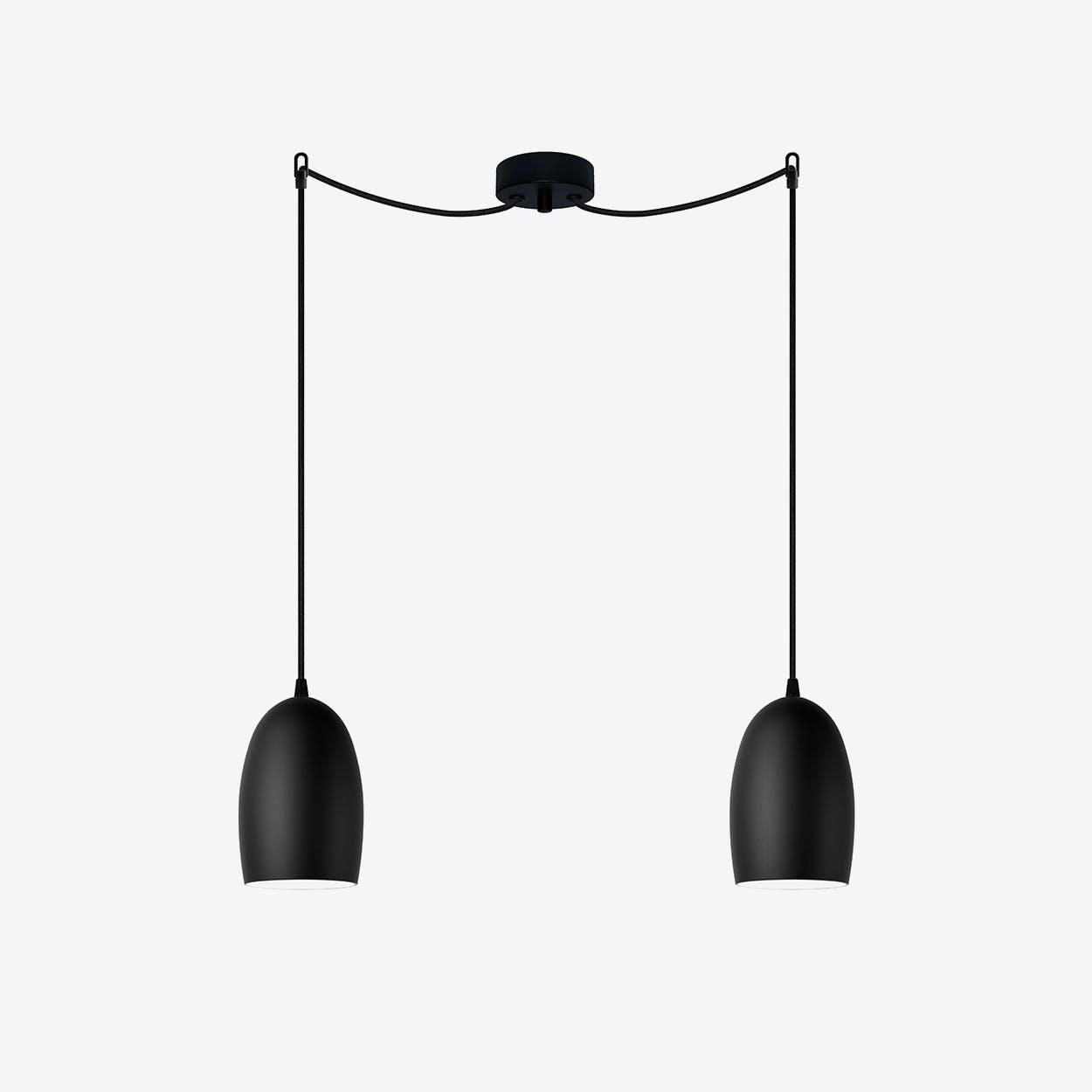 UME Double Pendant Light in Matte Black