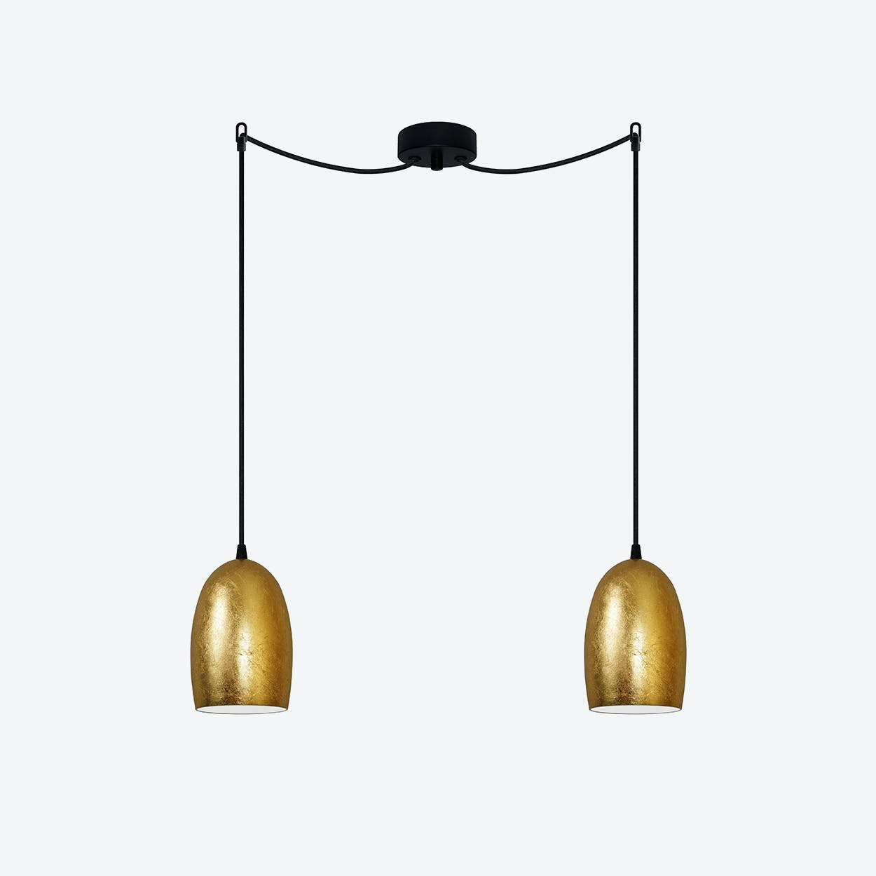 UME Double Pendant Light in Gold Leaf