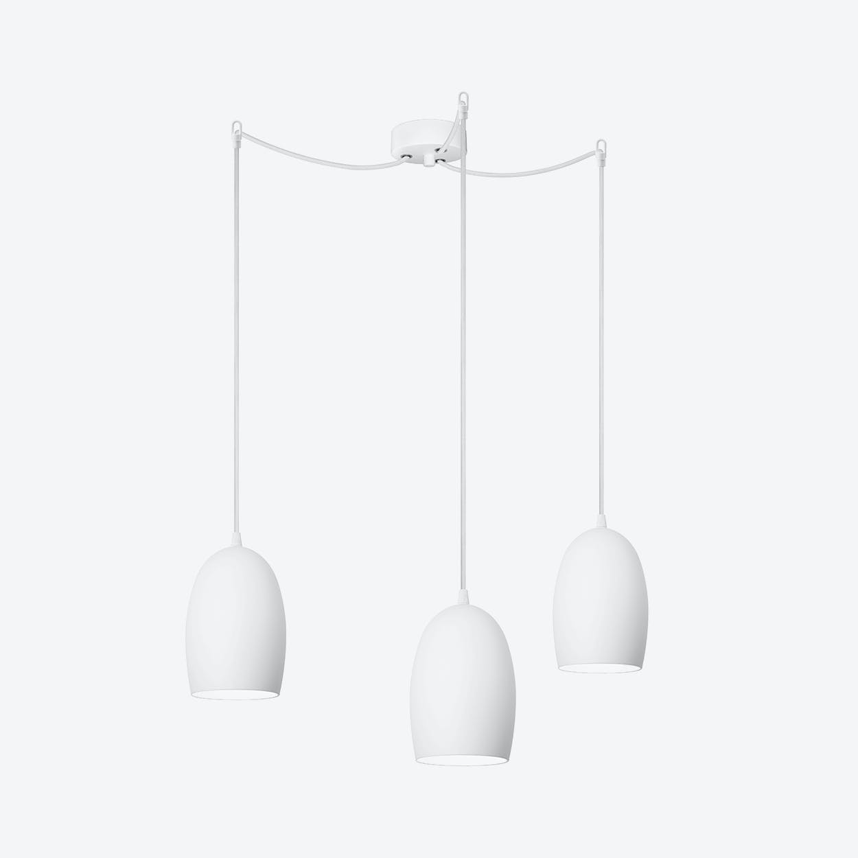 UME Triple Pendant Light in Matte Opal