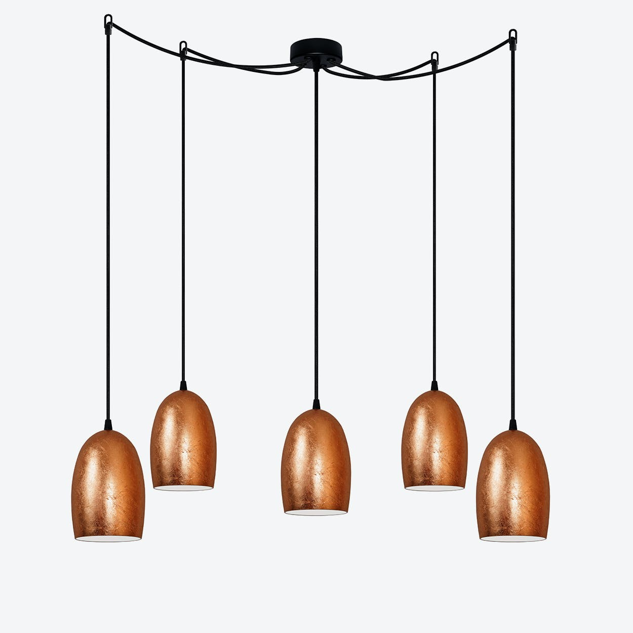 UME 5-Light Pendant Light in Copper Leaf