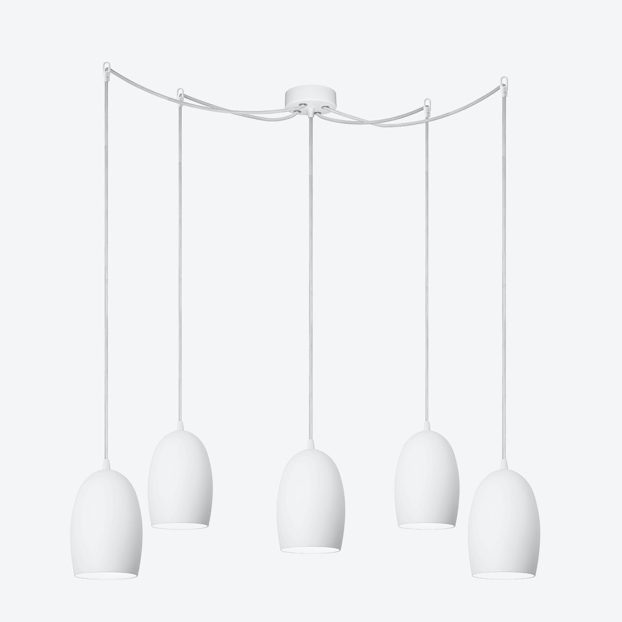 UME 5-Light Pendant Light in Matte Opal