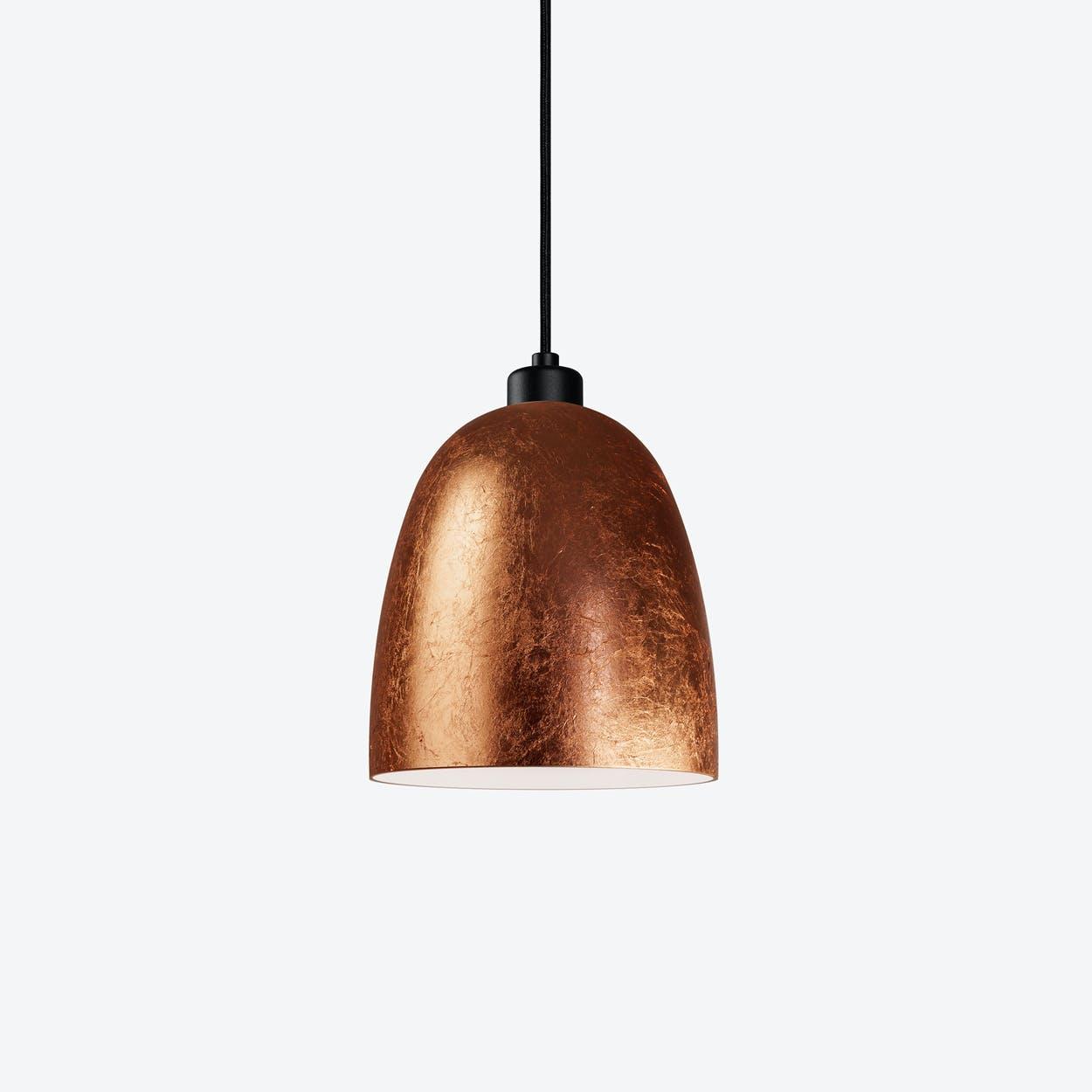 AWA Single Pendant Light in Copper Leaf