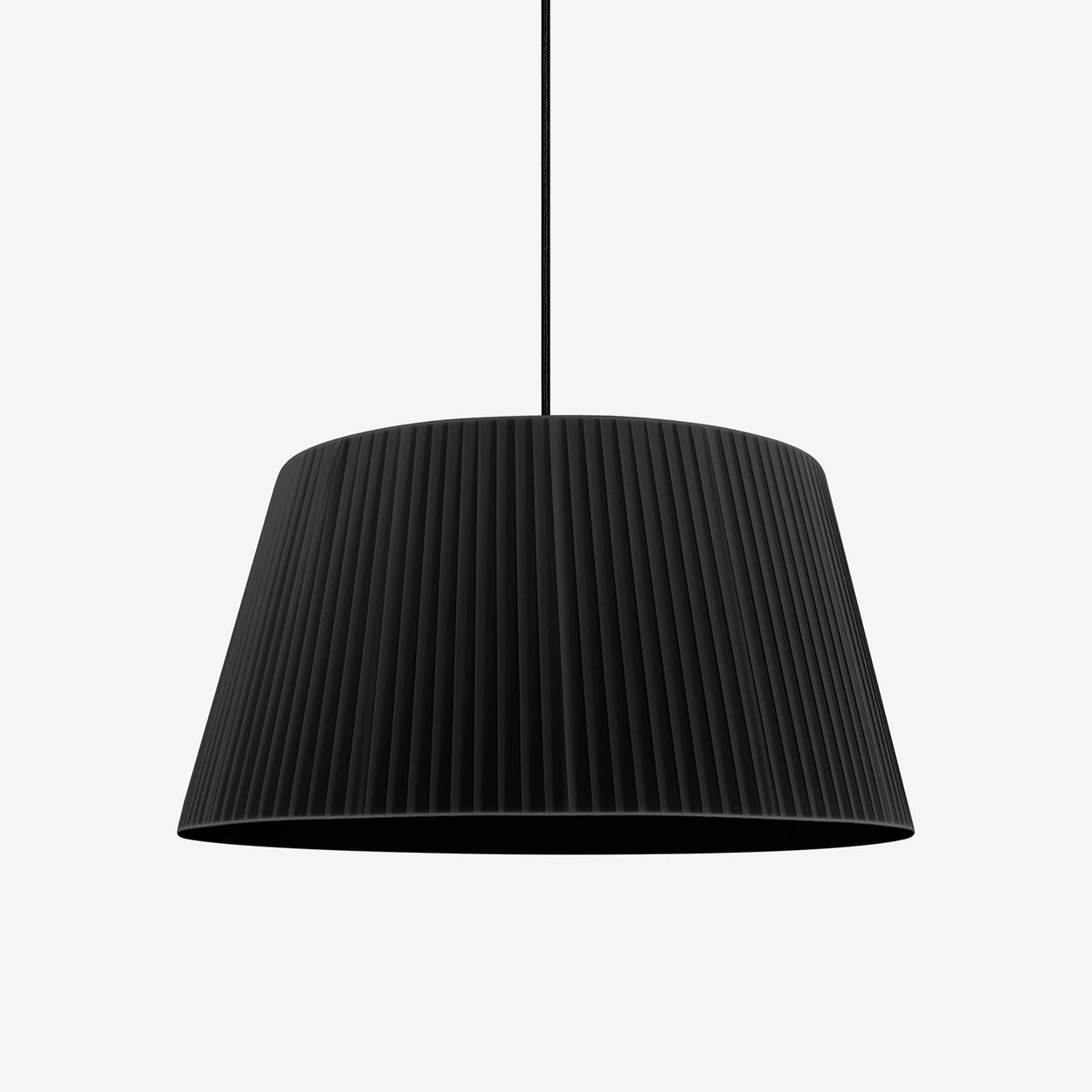 KAMI Single Pendant Light in Black