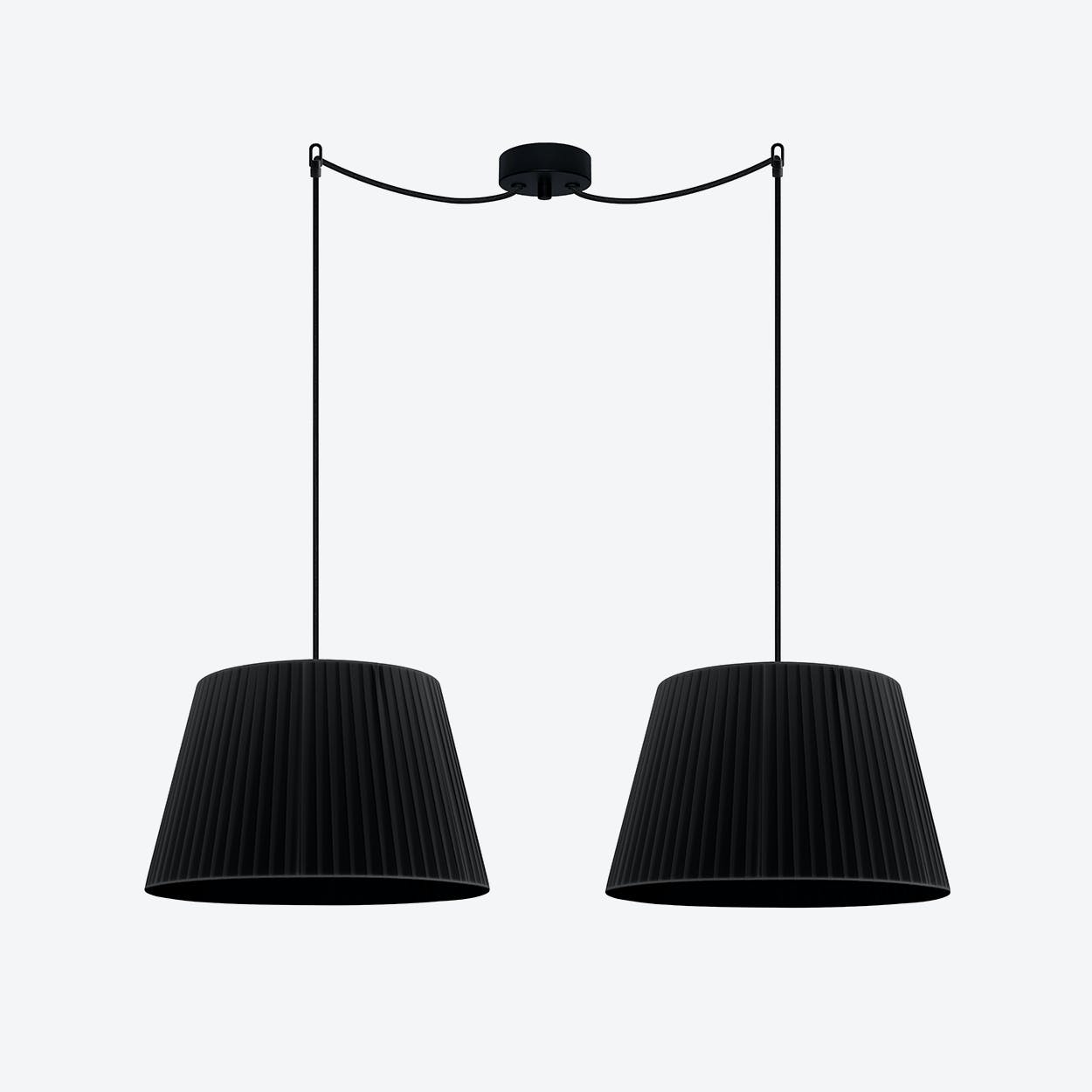 KAMI Double Pendant Light in Black