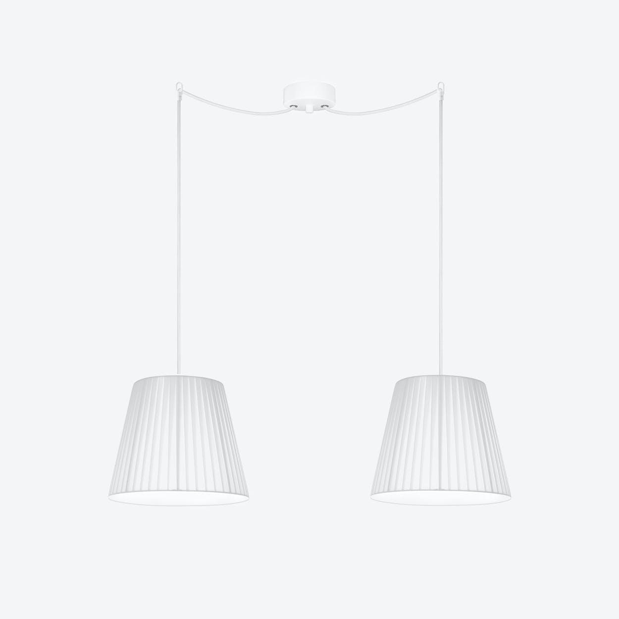 KAMI Small Double Pendant Light in White