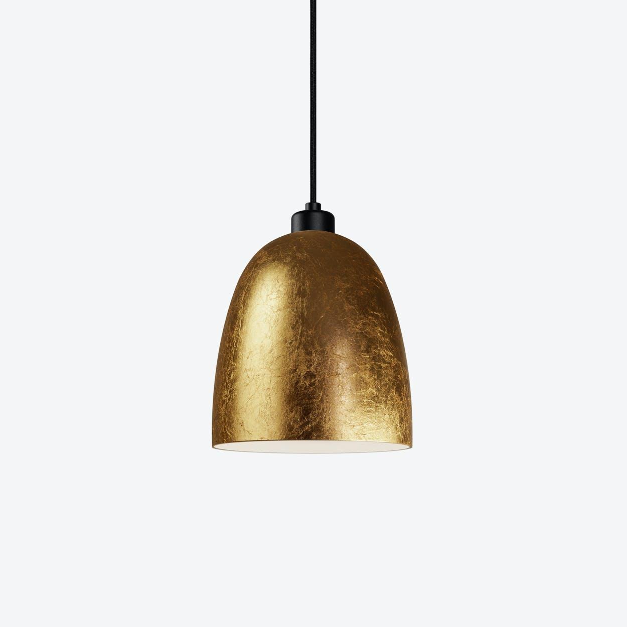 AWA Single Pendant Light in Gold Leaf