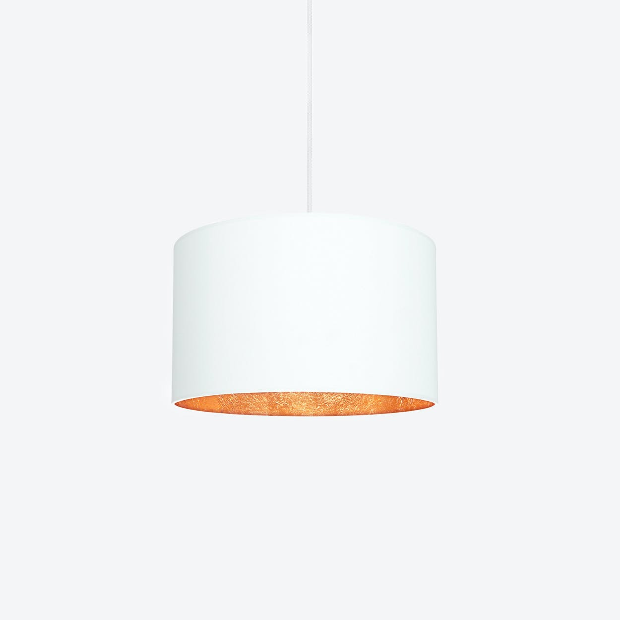 Mika lighting Antique Mika Medium Single Pendant Light In White With Copper Leaf By Sotto Luce Lamps Empire Mika Medium Single Pendant Light In White With Copper Leaf By Sotto