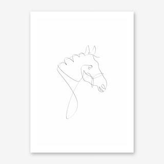 Horse Line I Art Print