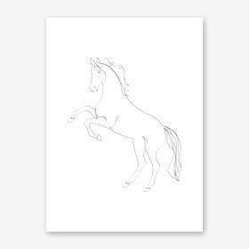 Horse Line II Art Print