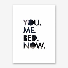 You. Me. Bed. Art Print