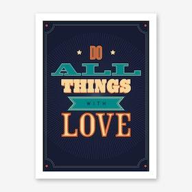 Do All Things Art Print
