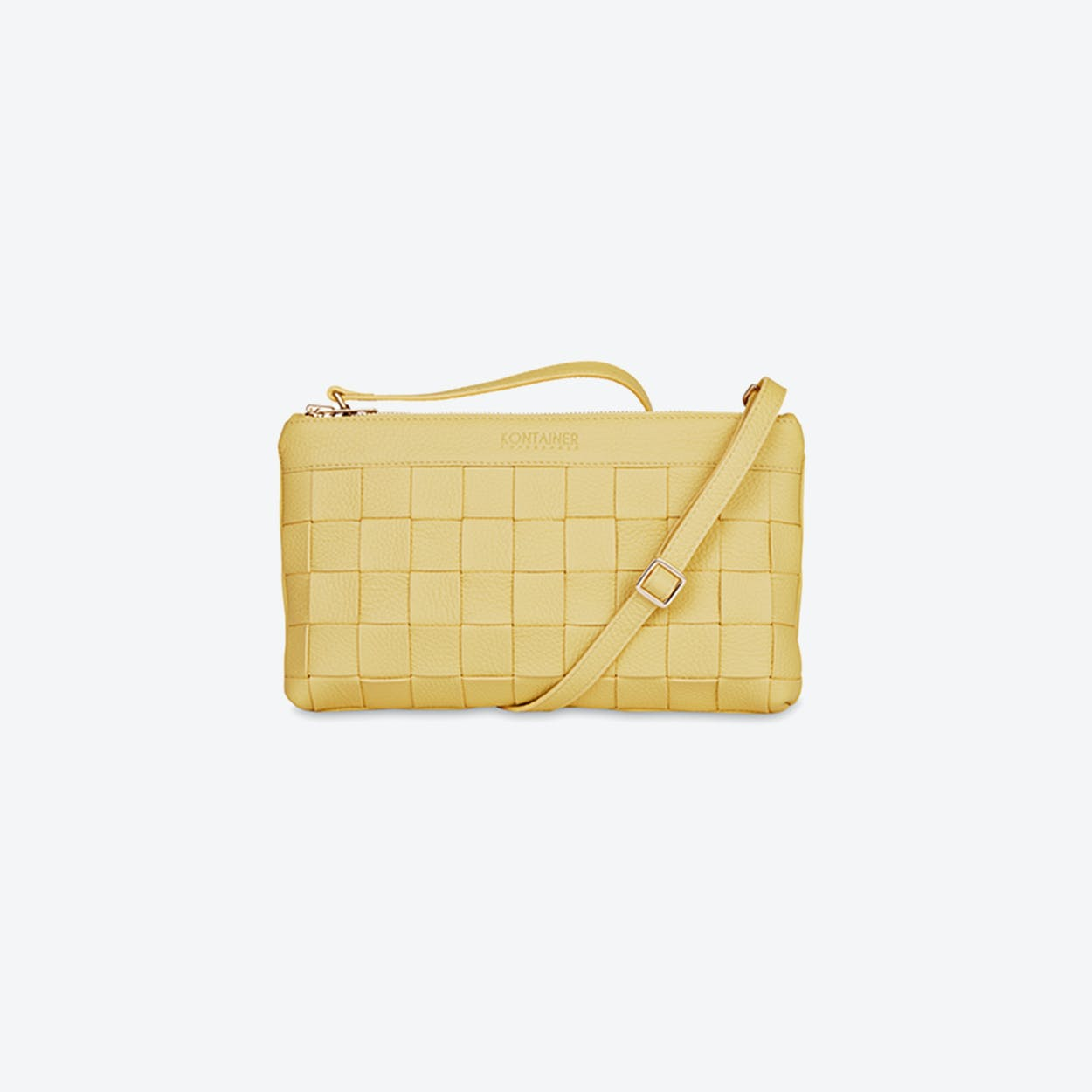 Braided Clutch in Yellow Mellow