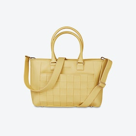 Braided Shopper in Mellow Yellow