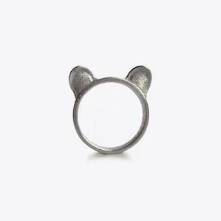 Bear Ears Ring in Steel