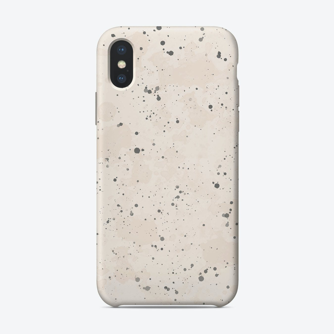 Blush Grey Splatter iPhone Case