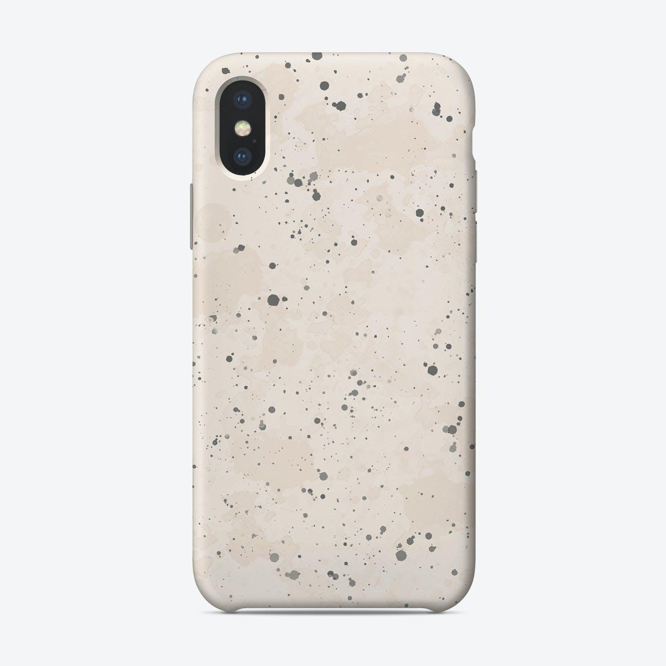 Blush Grey Splatter iPhone Case