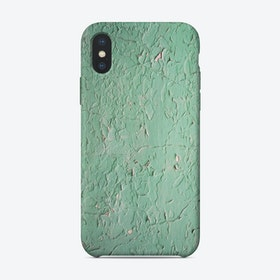 Green Crackle Print iPhone Case