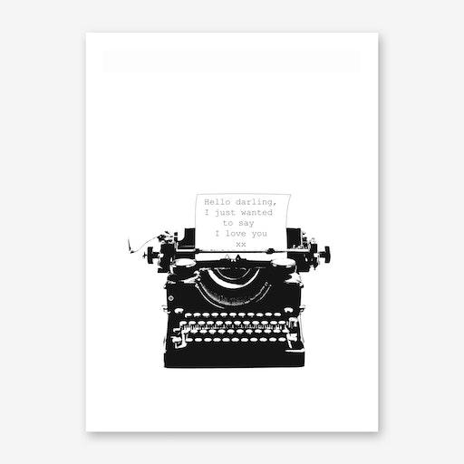 Typewriter Love Quote