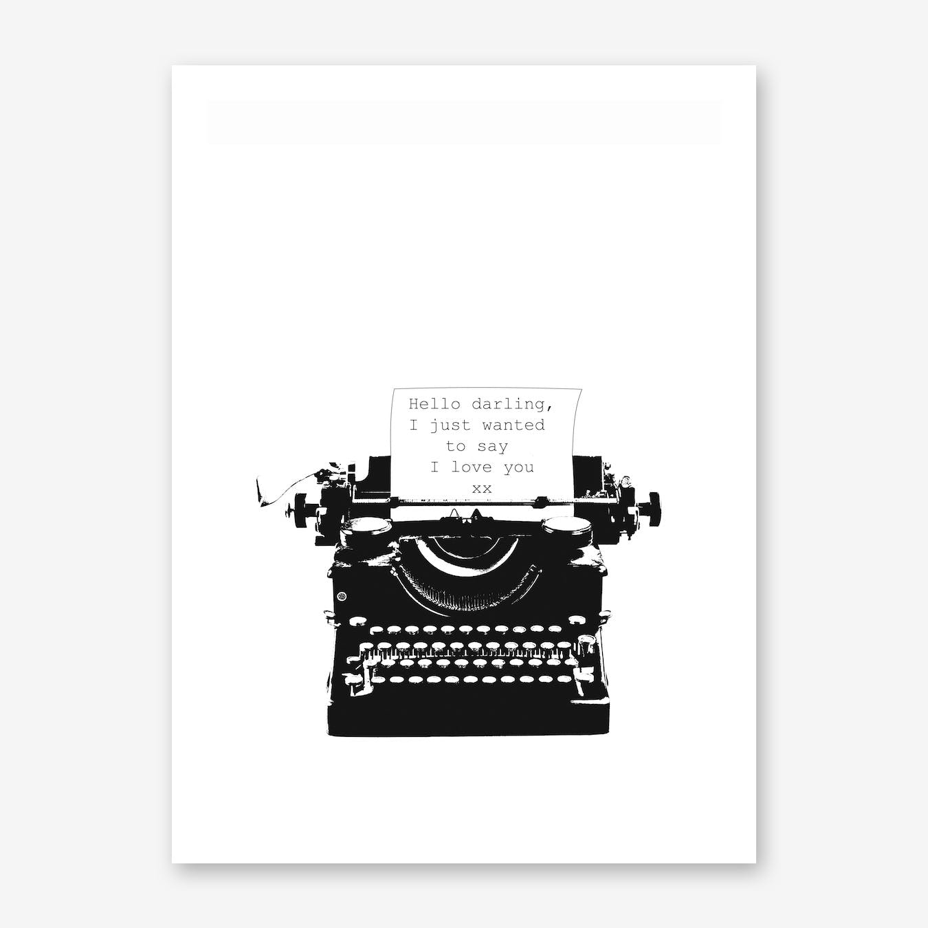 Typewriter Love Quote