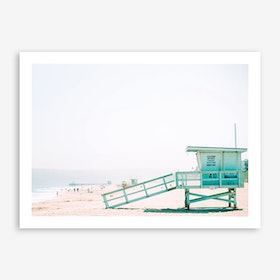 Beach Hut Landscape Art Print