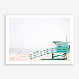 Beach Hut Landscape Art Print