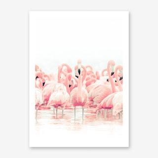 Flamingo Flock Art Print