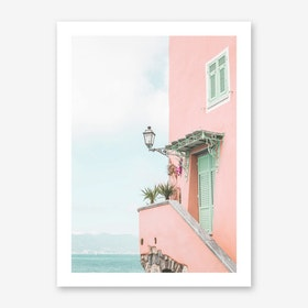 Pink House Photo Art Print