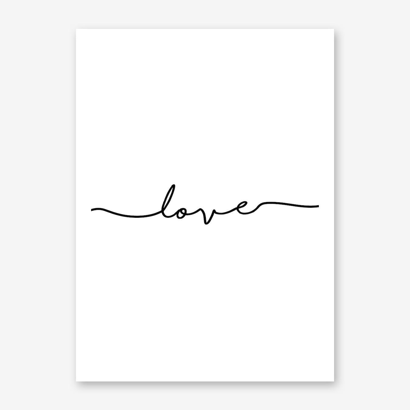 Love Quote Portrait
